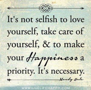 happiness isn´t selfish